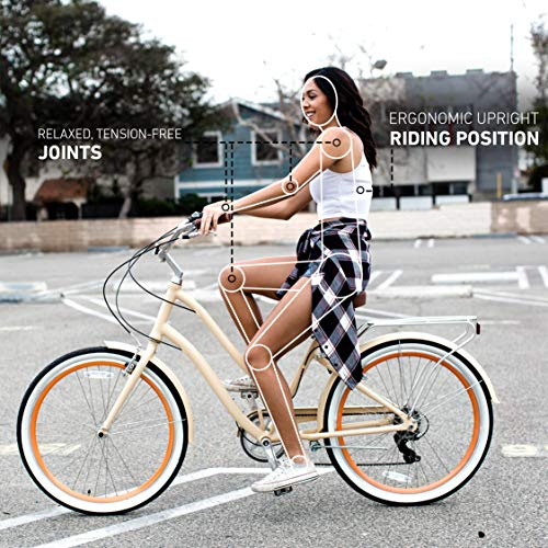 Cycling bikes. sixthreezero EVRYjourney Women's Single Speed Step-Through Hybrid Cruiser Bicycle, 26