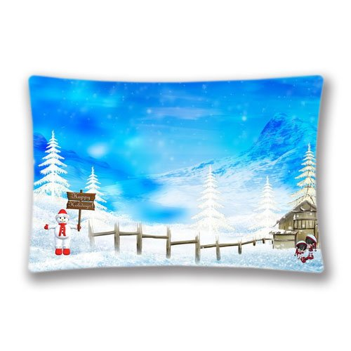 20x30 Pillow Cover Rectángulo Navidad Nieve estándar ...