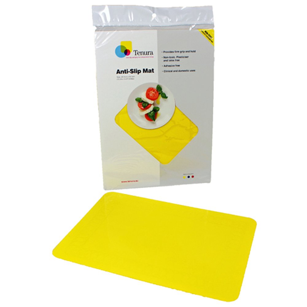 Tenura 75373-4503 Yellow Silicone Non-Slip Table Mat, 17-3/4'' Length x 15'' Width