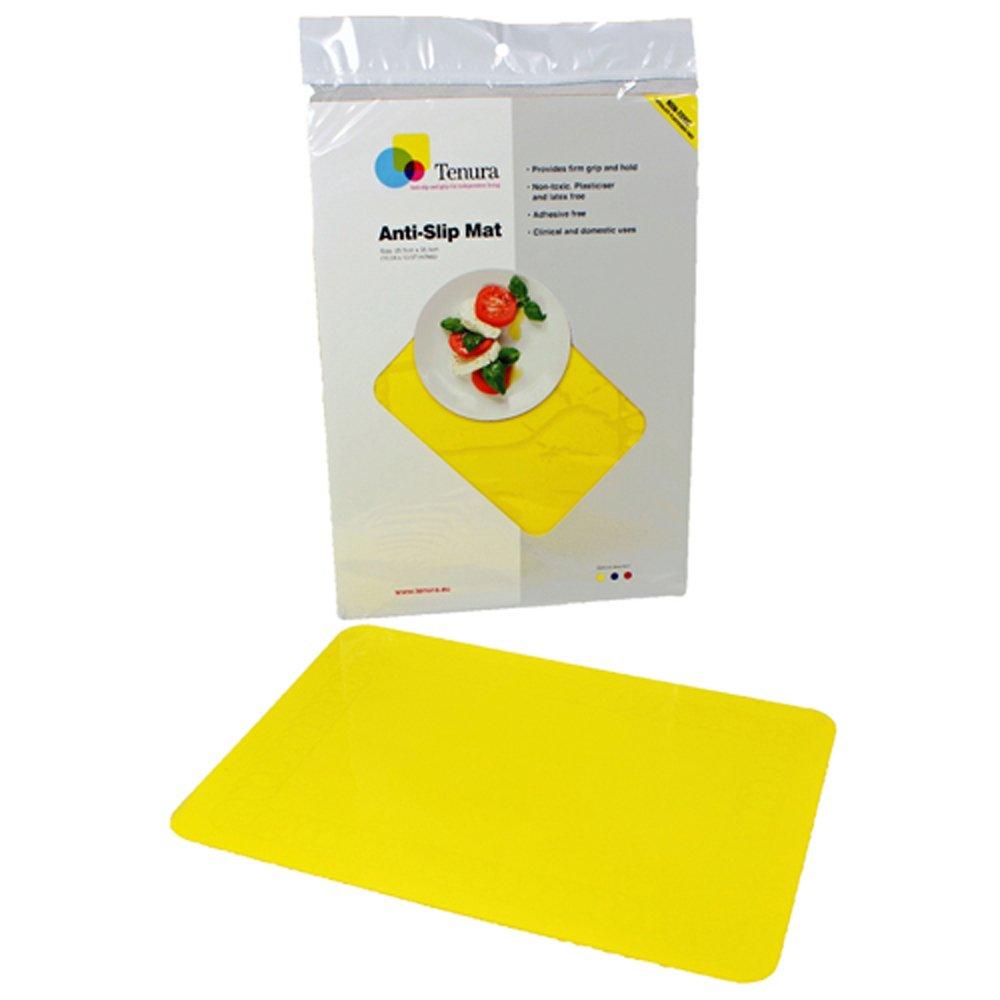 Tenura 75373-4503 Yellow Silicone Non-Slip Table Mat, 17-3/4'' Length x 15'' Width by Maddak Inc.