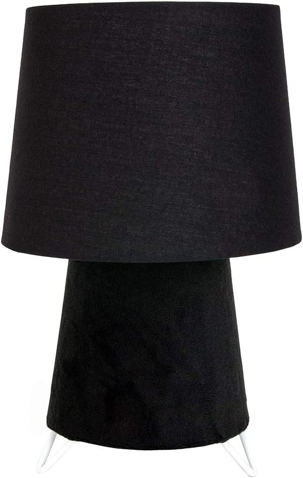 28cm Height Modern Designer Table Lamp With Grey Velvet Base And Grey Cotton Fabric Shade 40watt E27 Perfect Ad Bedside Lamps By Happy Homewares Lighting Lamps Bases Shades