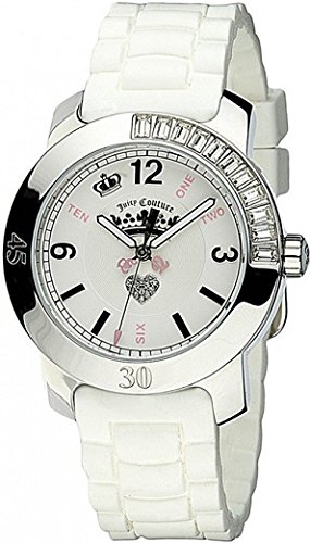 (Juicy Couture Women's 1900548 BFF White Jelly Strap Watch)