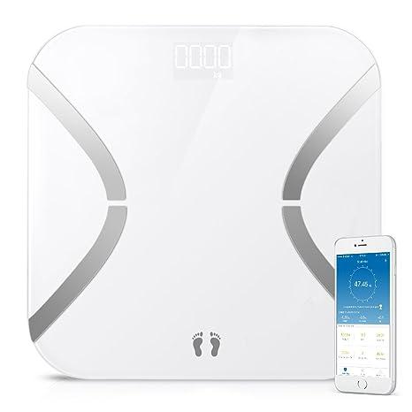 marsboy Mini báscula de baño Digital de Cuerpo báscula con Bluetooth y App Inteligente ponderación analizador