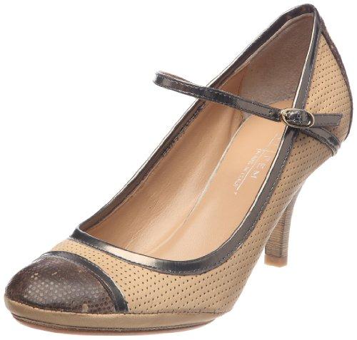Latitude Mujer Para Cuero Vestir Femme De Beige Zapatos 4Hv4pqf
