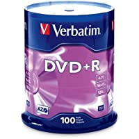 100-Pk Verbatim 4.7GB DVD+R Disc Spindle