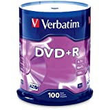 Verbatim DVD+R 4.7GB 16x AZO Recordable Media Disc - 100 Disc Spindle (FFP)
