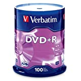 Verbatim DVD+R 4.7GB 16x AZO Recordable Media Disc - 100 Disc Spindle (FFP)