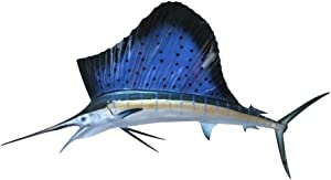 Sailfish Half Mount Fish Replicas - Different Sizes - Made for Indoors Or Outside - Ultimate Affordable Fish Mount Decor