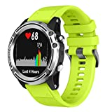 Cheap For Garmin Descent Mk1 Watch Band,Esharing Soft Silicone Quick Release Kit Strap Replacement Wristband Bracelet For Garmin Descent Mk1 GPS Watch (Green)