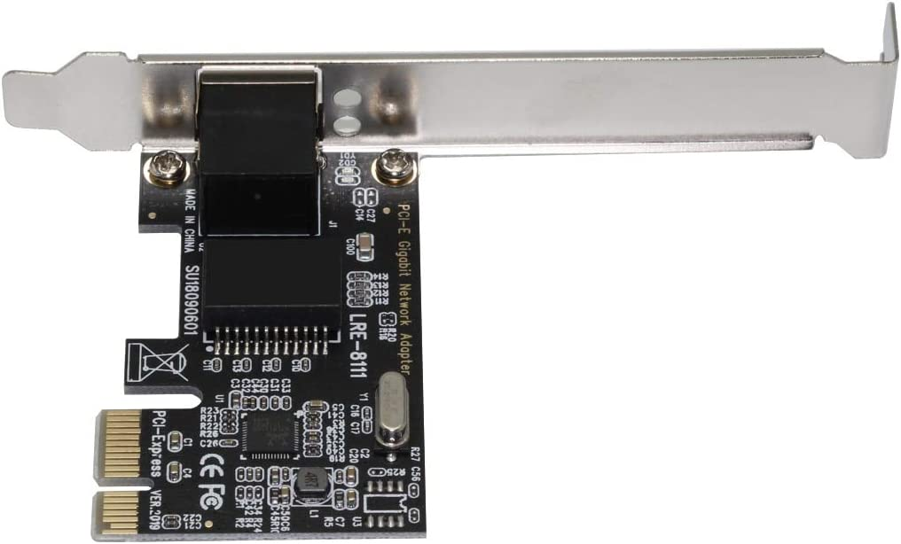 JMT Gigabit Ethernet PCI-E Network Card RJ45 LAN Adapter 1000Mbps Internal Network RTL8111G for Pcie X1//X4//X8//X16 Desktop PC Server
