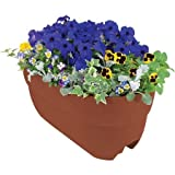 Emsco Group 24'' Rail Planter With Fasteners And Weatherproof Durable Resin Construction