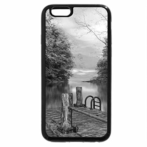 iPhone 6S Case, iPhone 6 Case (Black & White) - river