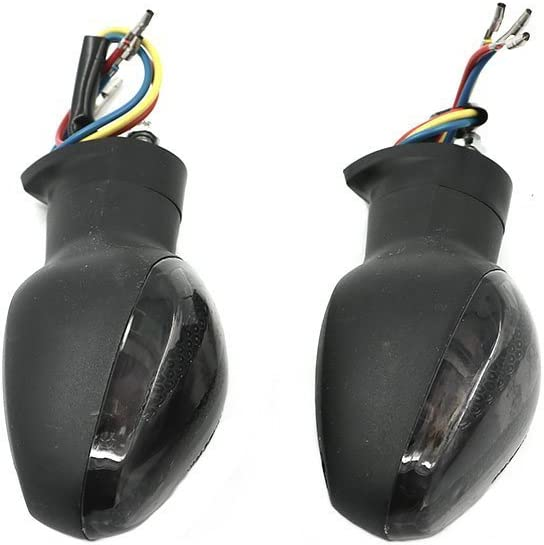 Alpha Rider Universial 12V 10W Front or Rear Tail Turn Signal Indicator Blinker Amber Bulb Light Lamp for Honda 2007-2014 CBR600RR 2008-2014 CB1000R 2004-2011 CBR125R Silver Cover