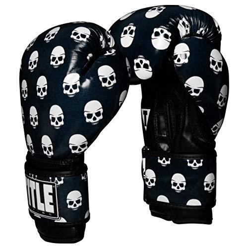 Title Boxing Infused Skull Print Bag Gloves, Black/White, Medium