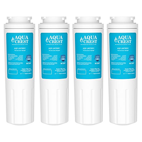 4 Pack AQUACREST UKF8001 Replacement for Maytag UKF8001, 469005, 4396395 Refrigerator Water Filter