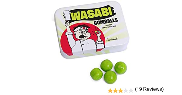 Accoutrements Wasabi Flavored Gumballs In Tin: Amazon.es: Juguetes y juegos