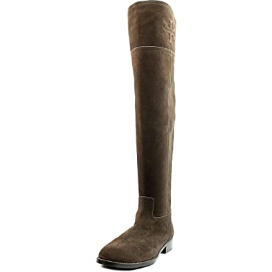 Amazon.com | Tory Burch Boots Leather OVER The Knee Simone Riding ...