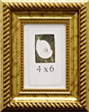 4x6 Antique Wood Picture Frame (Gold)