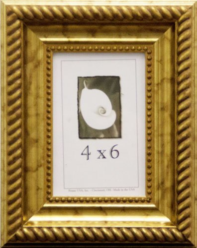 4x6 Antique Wood Picture Frame (Gold) by Frame USA