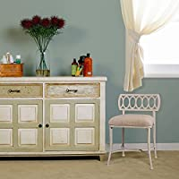 Hillsdale Furniture Canal Street Vanity Stool in White Finish