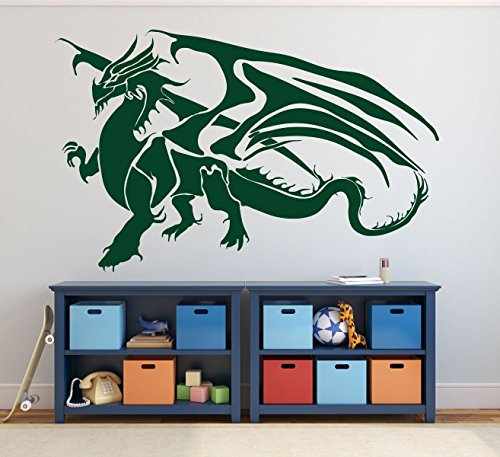 Gold Chinese Snake White (Dragon Wall Decal - Vinyl Sticker Decor for Children's Room, Gameroom, Playroom Decoration)