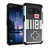 Galaxy S8 Active Case NES Game Controller, DURARMOR Dual Layer Hybrid ShockProof Ultra Slim Fit Armor Air Cushion Defender Protector Cover for Galaxy S8 Active – NES