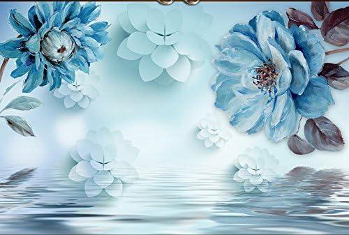Lqwx Comunità 3d Wallpapers Per Parete Fantasy Fiore Blu 3d