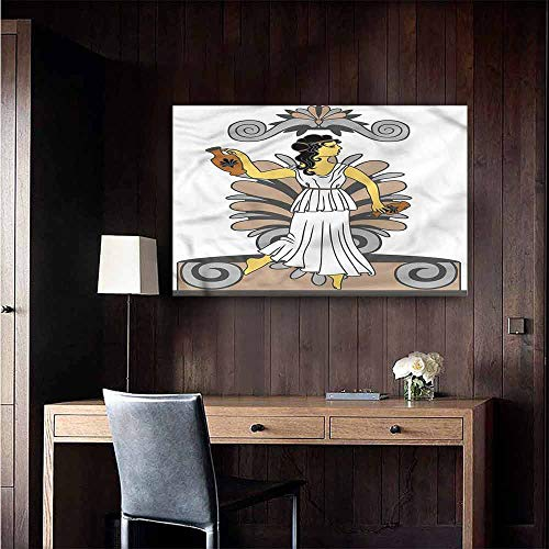Gabriesl Art Decor 3D Wall Mural Wallpaper Stickers Toga Party Woman with Amphora Background Wall Stickers Size : W28 x H20]()