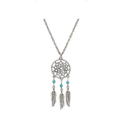 Buy accessorisingg silver dream catcher pendant with blue beads accessorisingg silver dream catcher pendant with blue beads pd076 mozeypictures Images