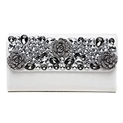 Elegantly Studded Large Folder Clutch