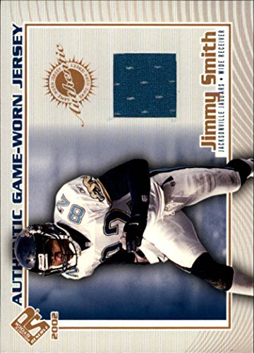 2002 Private Stock Game Jerseys #62 Jimmy Smith Game-Worn Jersey Card