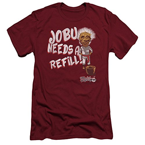 Major League Jobu Needs A Refill Slim Fit Unisex Adult T Shirt for Men and Women, X-Large Cardinal