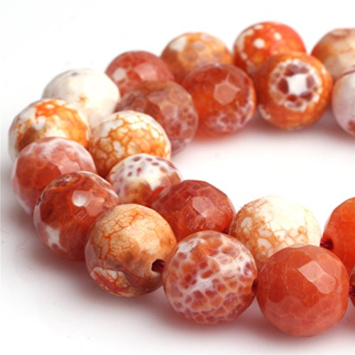 "Red Fire Agate Beads for Jewelry Making Natural Gemstone Semi Precious 10mm Round Faceted 15"" JOE FOREMAN"