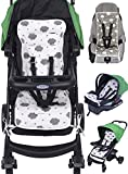 Reversible Pure Cotton Universal Baby Seat Liner for Stroller, Car Seat, Jogger, Bouncer | Thick Cushion | Supports Newborns, Infants, and Toddlers | Quick and Easy Install
