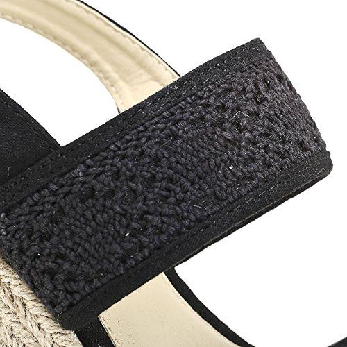 PRENDIMI by Scarpe&Scarpe - Plataformas con tejido macramé Negro