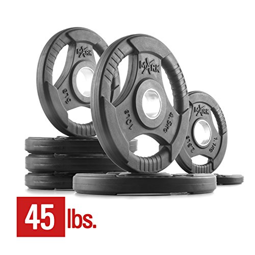 XMark Fitness XM-3377-BAL-45 Rubber Coated Olympic Plates Review