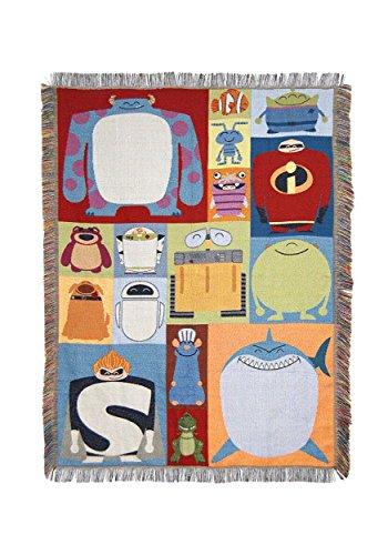 "Disney-Pixar's ""Character Blocks"" Woven Tapestry Throw Blanket, 48"" x 60"", Multi Color"