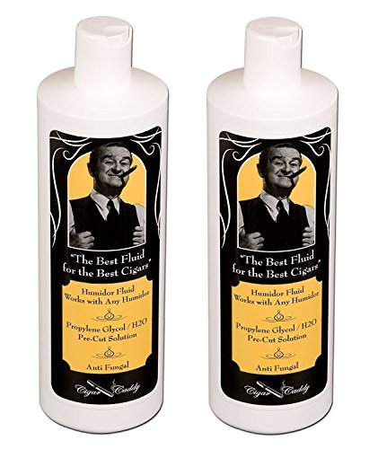 Cigar Caddy Humidor Solution, 2 Oz Propylene Glycol Humidification Fluid - 2-pack
