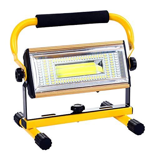 ALFLASH LED Baustrahler Wiederaufladbare Arbeitsleuchte 100W Superhell LED Fluter IP66 wasserdicht Flutlichtstrahler für…