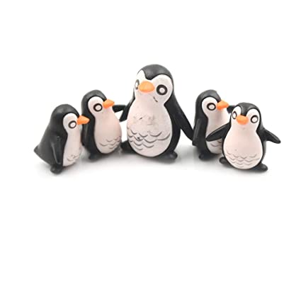 Moss Terrariums Ornaments Gnomes Penguins Figurine Miniature Resin Animal