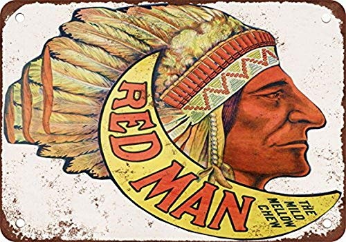YFULL Red Man Chewing Tobacco Vintage Look Reproduction Metal Tin Sign 12X16 Inches