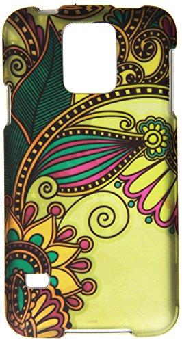 HR Wireless Samsung Galaxy S5 Rubberized Design Cover Case, Antique Flower ()