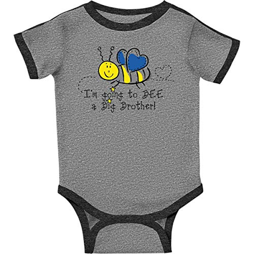 inktastic - Bee Future Infant Creeper 18 Months Ringer Heather and Smoke 37f2