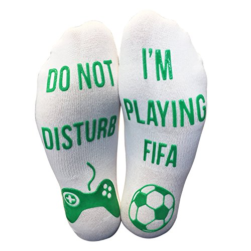 'Do Not Disturb I'm Playing FIFA' Funny Gaming Ankle Socks