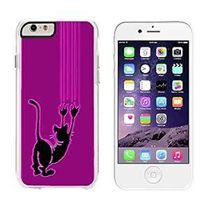 Cat Scratch color rosa–iPhone 6Plus transparente funda