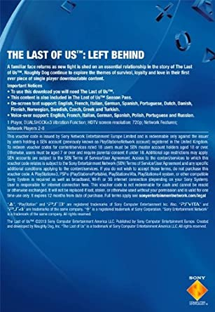 The Last of Us - Left Behind [PS3 PSN Code - UK account