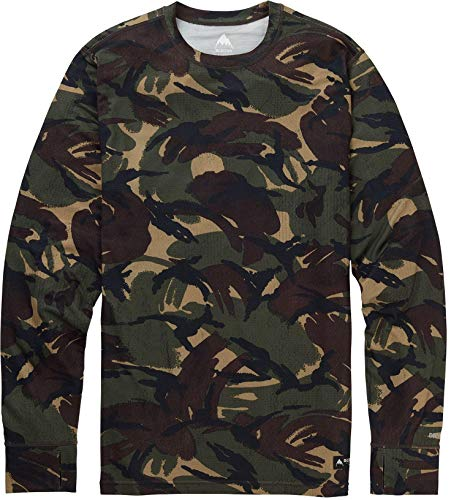 Mid Layer Ski - Burton Men's Midweight Crew Top, Seersucker Camo, Small