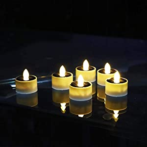 Solar Lantern Tea Lights Candles for Home Room Table and Outdoor Camping Garden Patio Decor, Light Sensor Smart On/Off Auto Operation,Flameless Flickering Led Candle, Wedding Party and Holidays Gifts