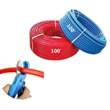 1/2 inch by 100 feet PEX Tubing For Potable Water, Red & Blue with Free PEX Cutter