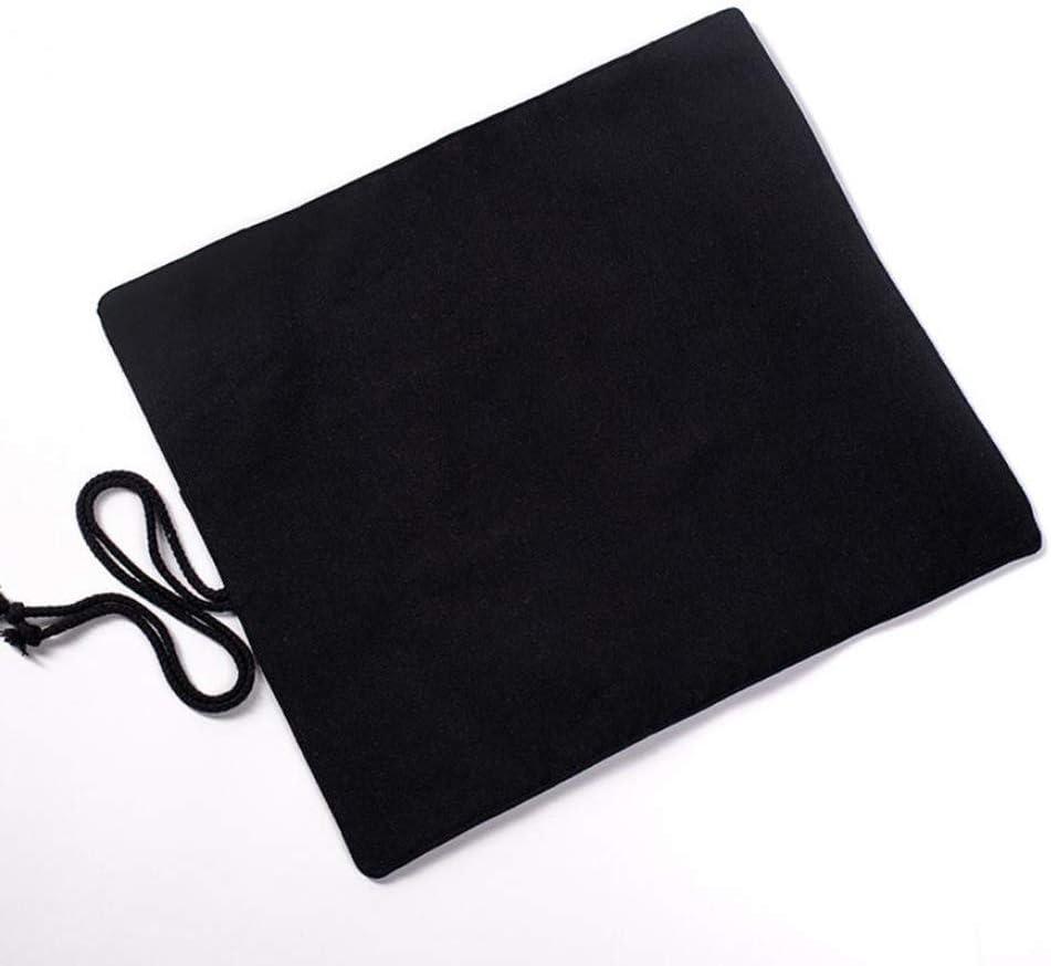 Canvas Roll Up Paint Brush Holder 20-Slot Artist Roll Makeup Brushes Case Pouch Bag Organizer Lightweight Black